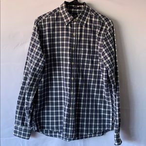 Gap Fitted Long Sleeve Plaid Button Down Shirt